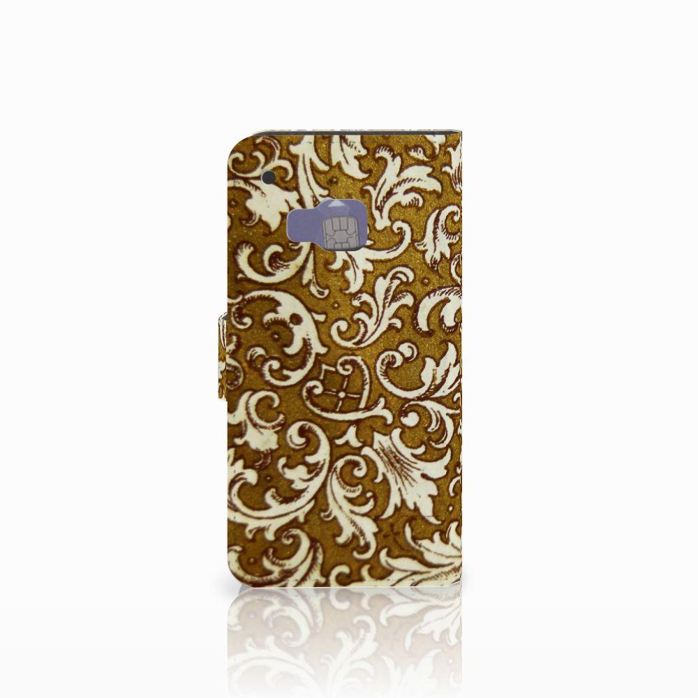 Wallet Case HTC One M9 Barok Goud