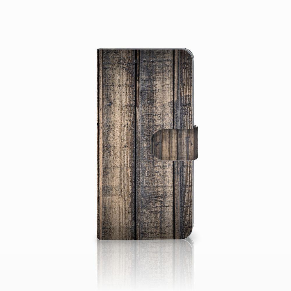 Samsung Galaxy A6 Plus 2018 Boekhoesje Design Steigerhout