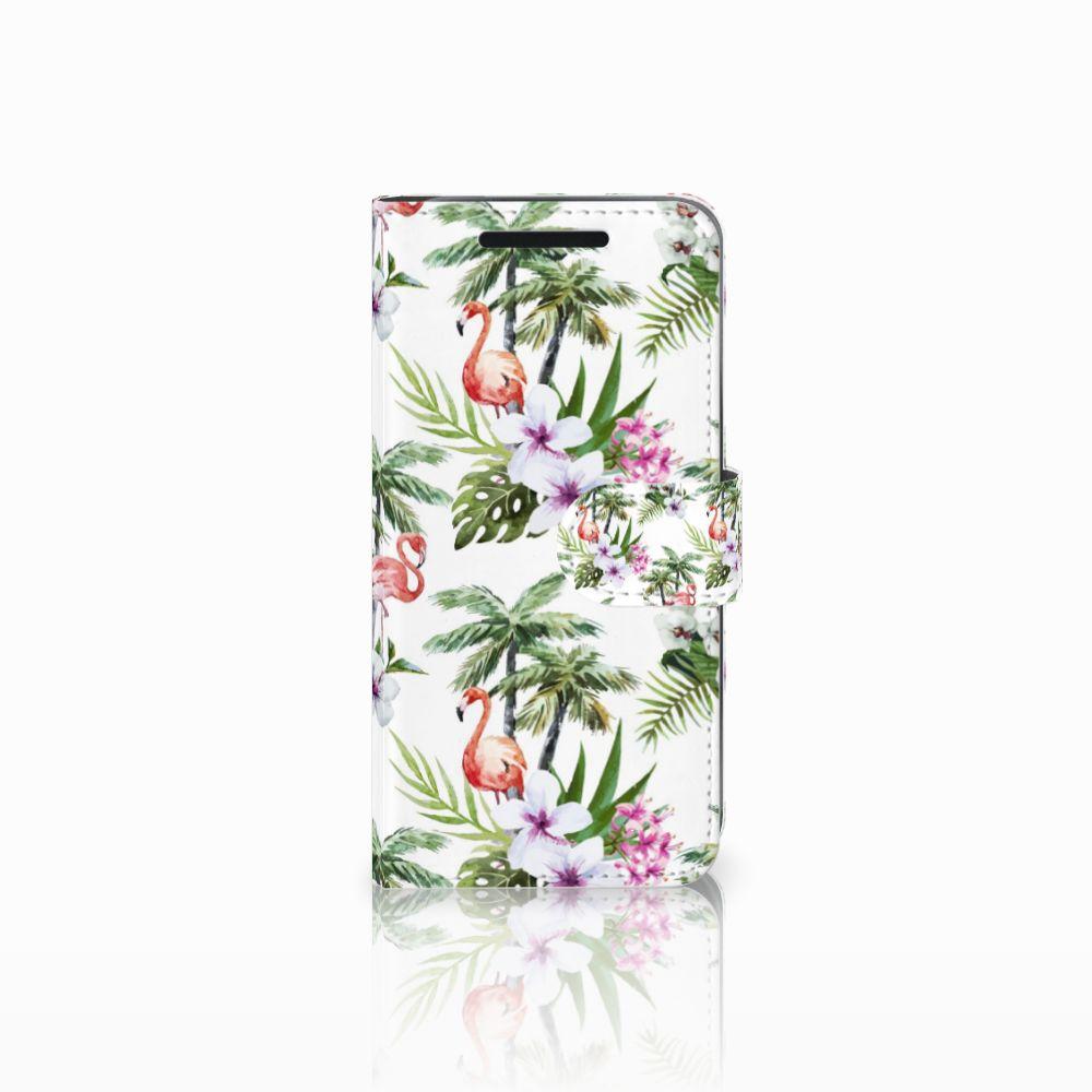 HTC One M9 Telefoonhoesje met Pasjes Flamingo Palms