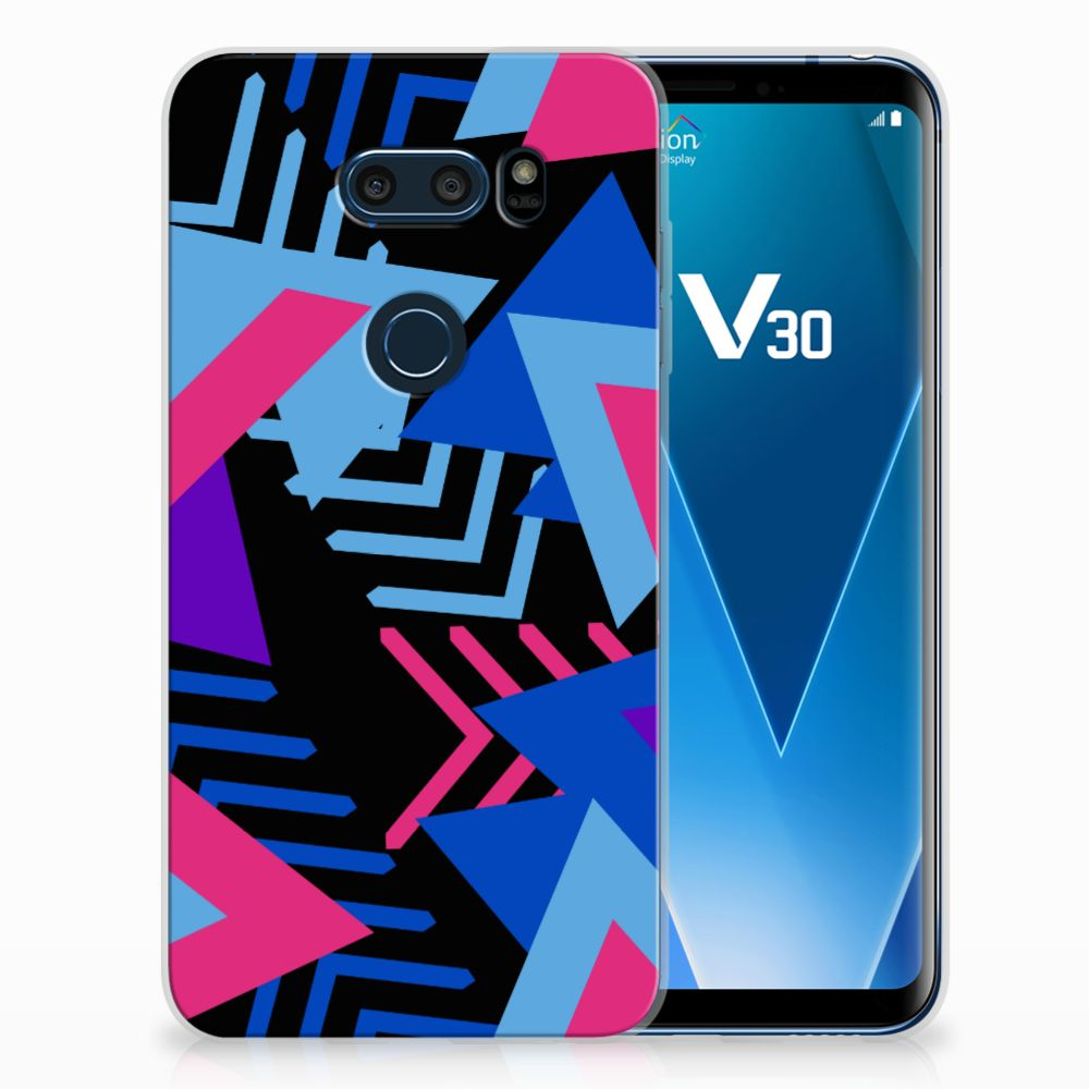 LG V30 TPU Hoesje Funky Triangle