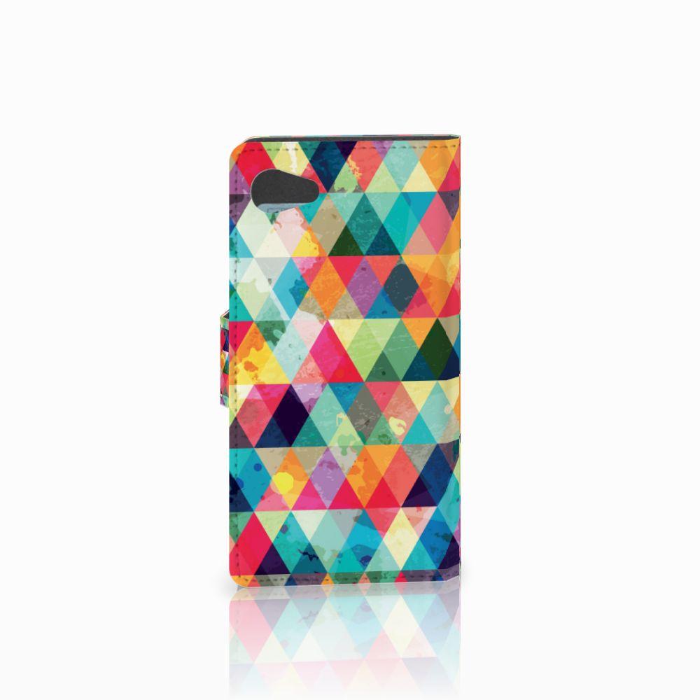 Sony Xperia Z5 Compact Telefoon Hoesje Geruit