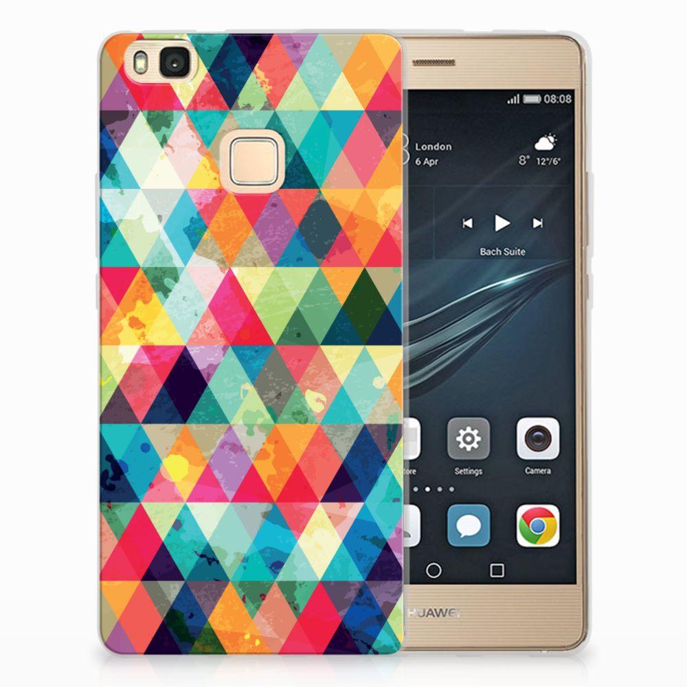 Huawei P9 Lite Uniek TPU Hoesje Geruit