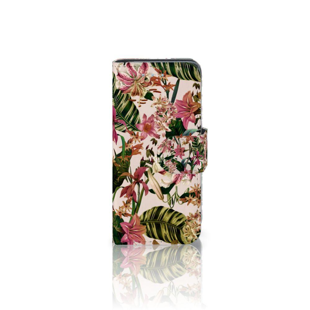 Samsung Galaxy S4 Mini i9190 Uniek Boekhoesje Flowers