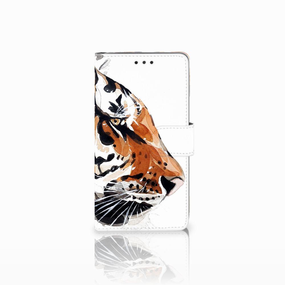 LG G4 Uniek Boekhoesje Watercolor Tiger