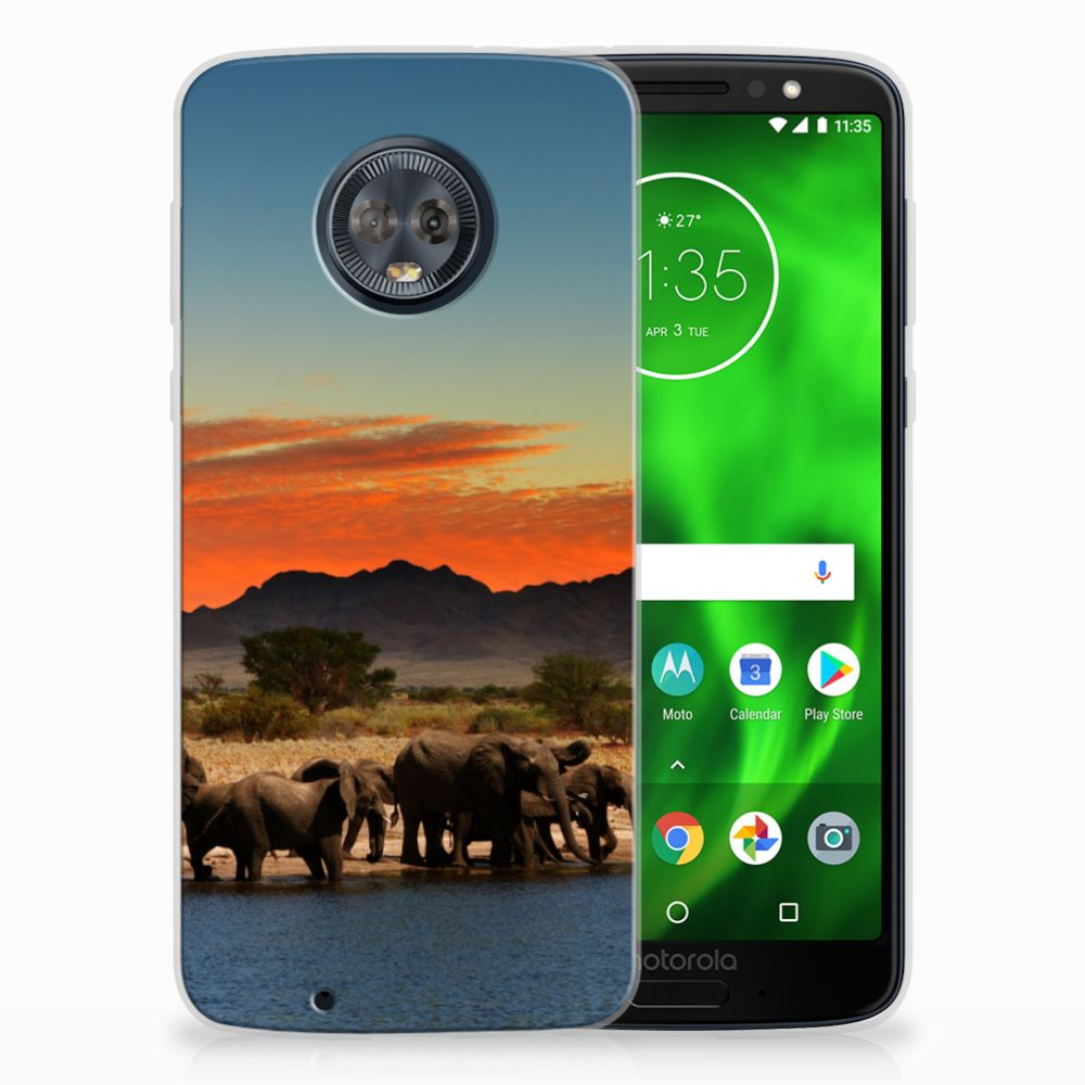 Motorola Moto G6 TPU Hoesje Design Olifanten