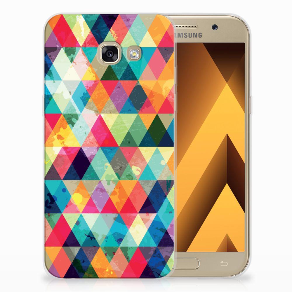 Samsung Galaxy A5 2017 Uniek TPU Hoesje Geruit