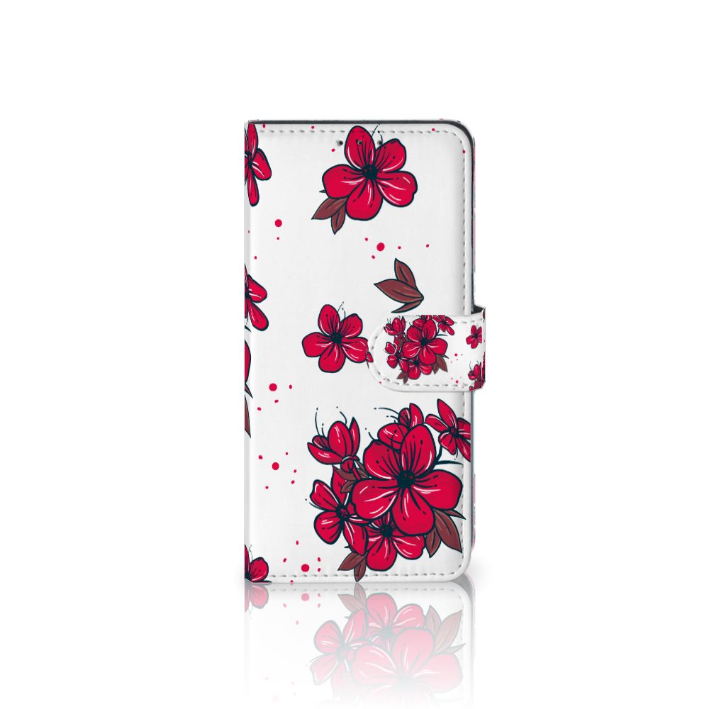 LG V40 Thinq Boekhoesje Design Blossom Red
