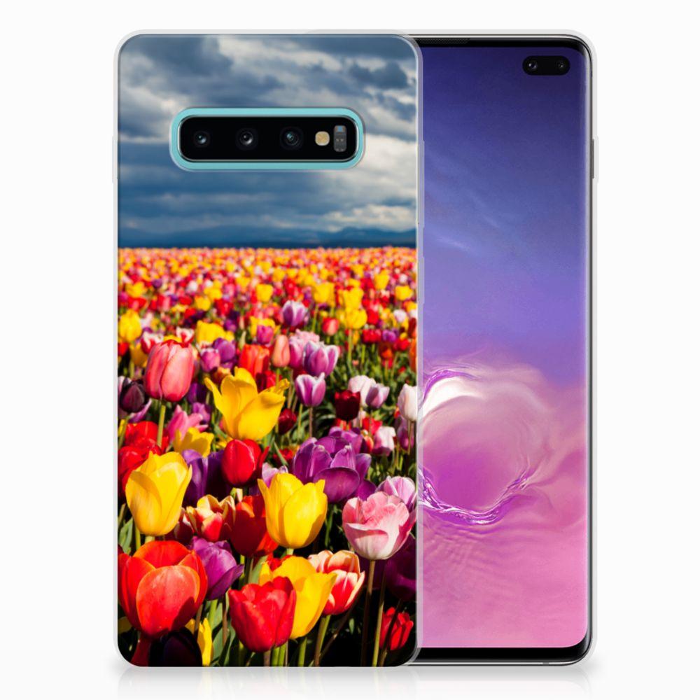 Samsung Galaxy S10 Plus Uniek TPU Hoesje Tulpen