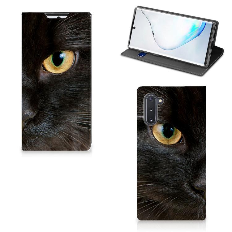 Samsung Galaxy Note 10 Hoesje maken Zwarte Kat