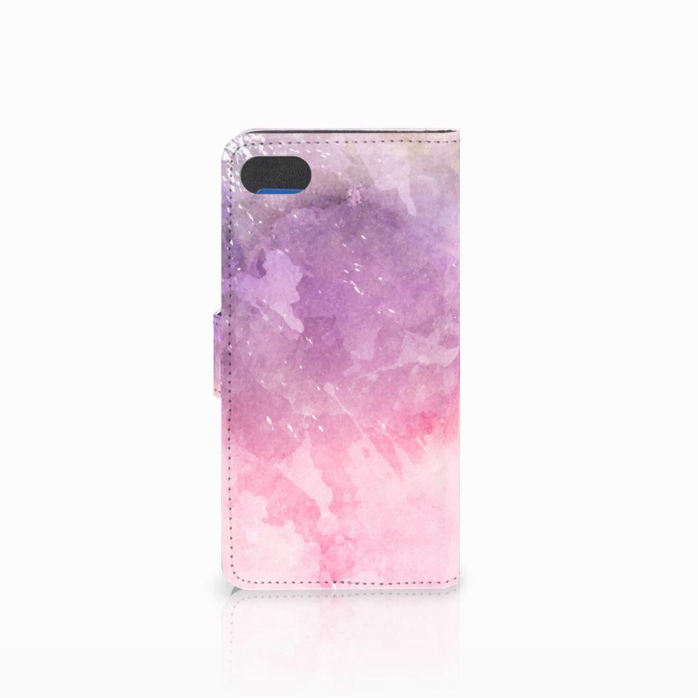 Hoesje Huawei Y5 2018 Pink Purple Paint