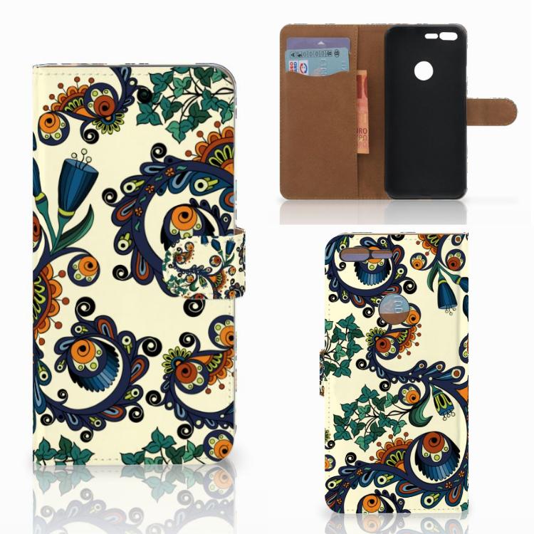 Wallet Case Google Pixel XL Barok Flower