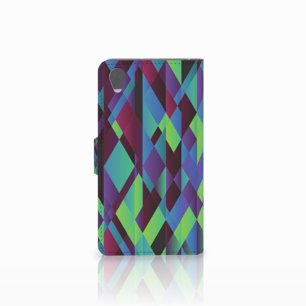 Sony Xperia Z1 Bookcase Abstract Green Blue