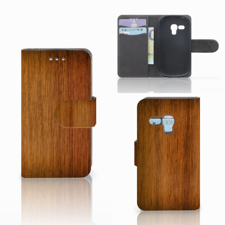Samsung Galaxy S3 Mini Book Style Case Donker Hout