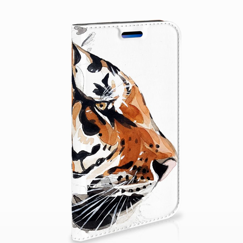 Apple iPhone X | Xs Uniek Standcase Hoesje Watercolor Tiger