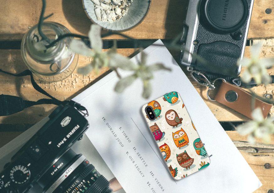 Apple iPhone X | Xs TPU Hoesje Vrolijke Uilen