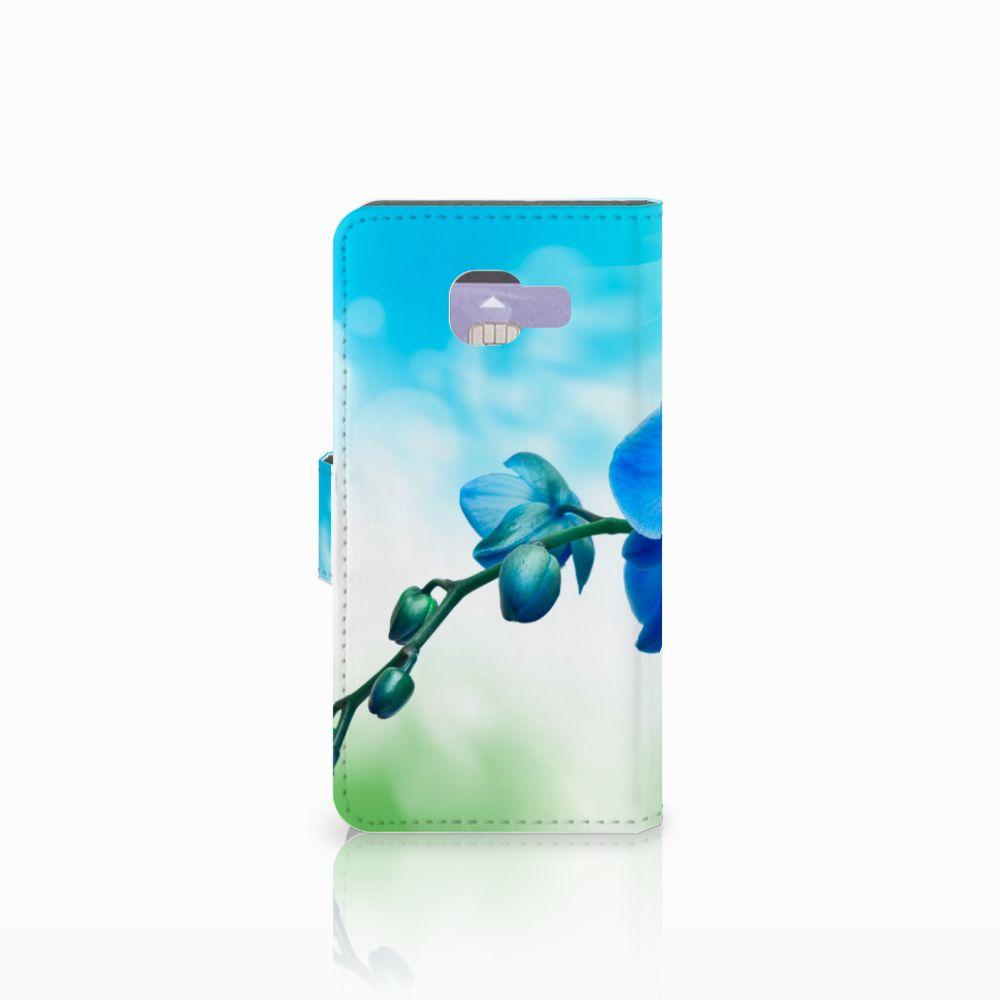Samsung Galaxy A3 2016 Hoesje Orchidee Blauw