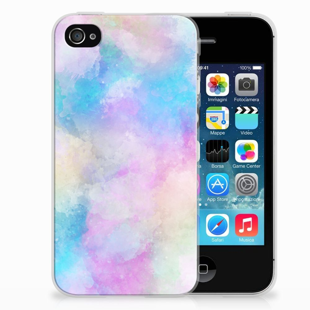 Apple iPhone 4 | 4s Uniek TPU Hoesje Watercolor Light