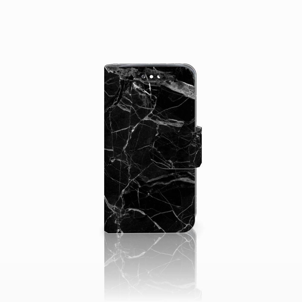Huawei Y360 Uniek Boekhoesje Marmer Zwart