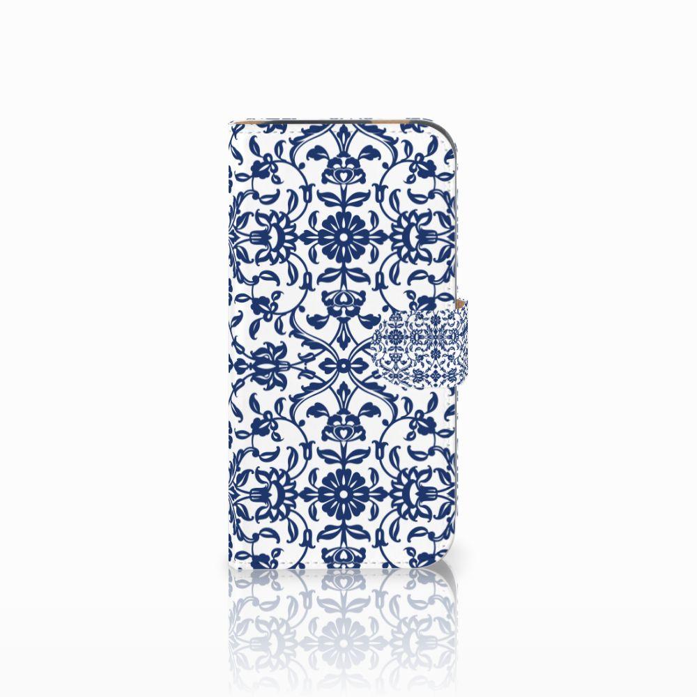 HTC One M8 Boekhoesje Flower Blue