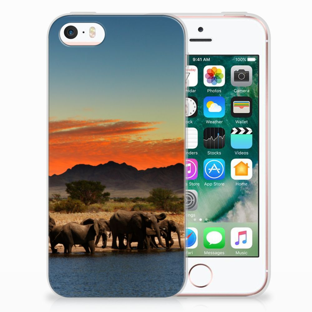 Apple iPhone SE | 5S TPU Hoesje Design Olifanten