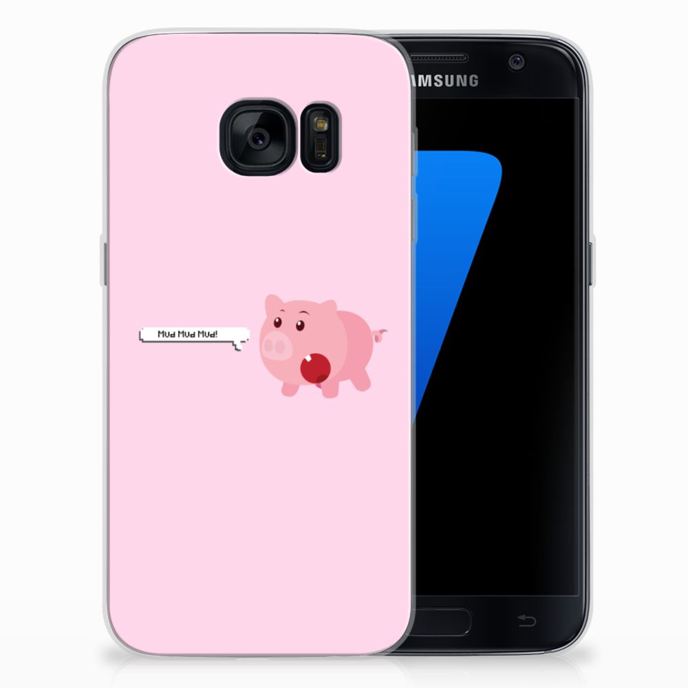 Samsung Galaxy S7 Telefoonhoesje met Naam Pig Mud