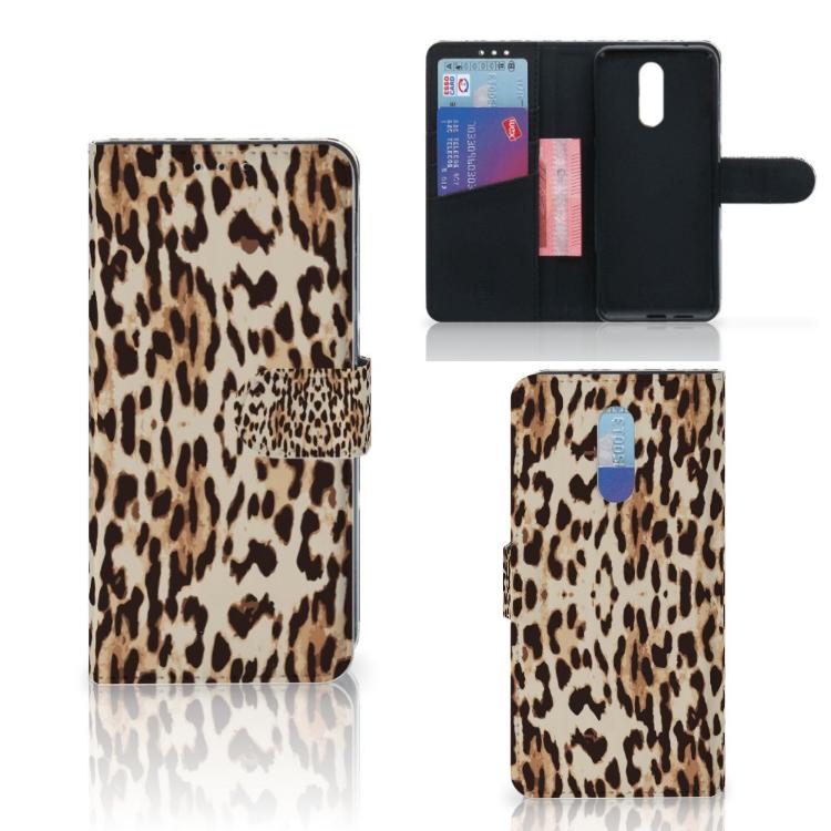Nokia 3.2 Telefoonhoesje met Pasjes Leopard