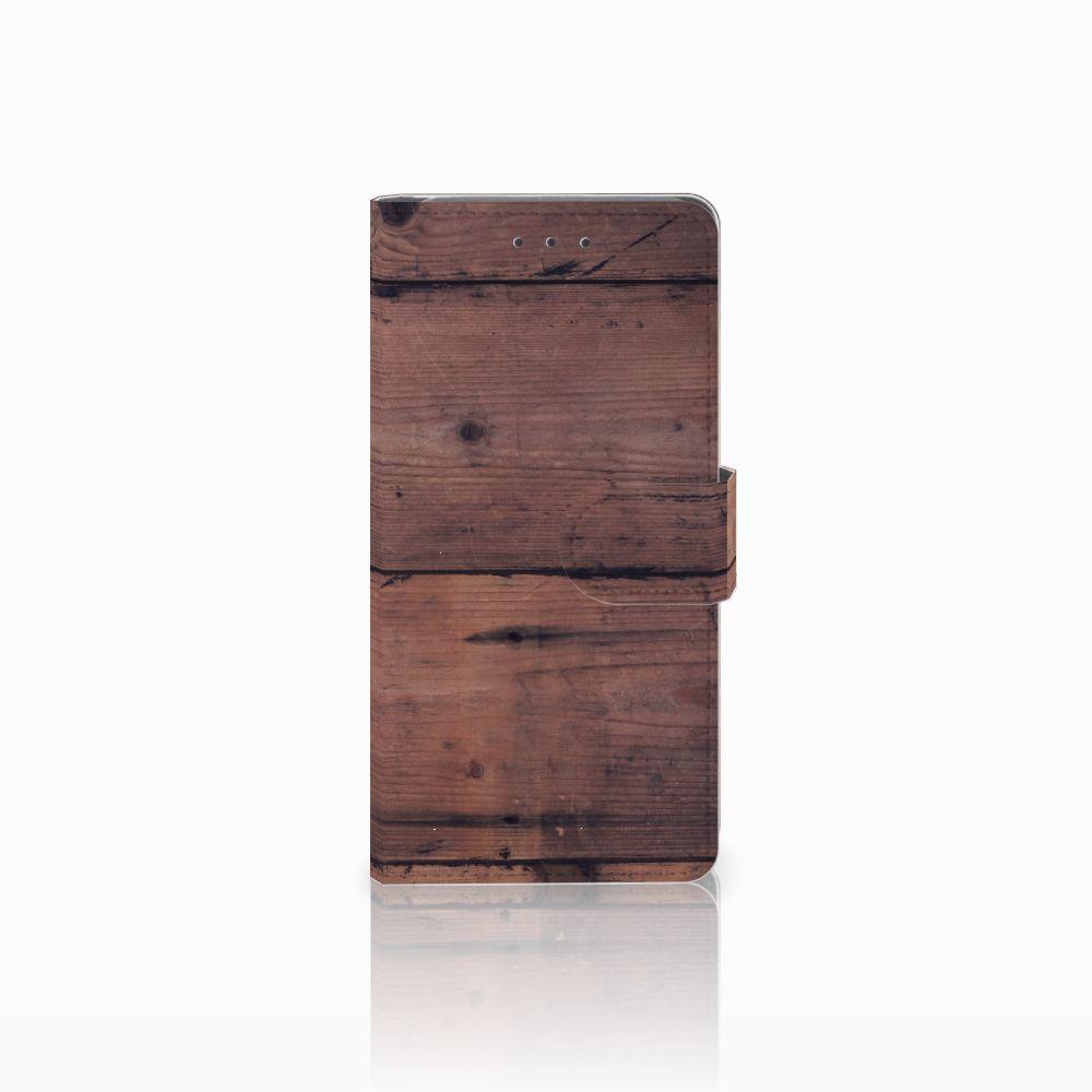 Samsung Galaxy Grand Prime   Grand Prime VE G531F Uniek Boekhoesje Old Wood