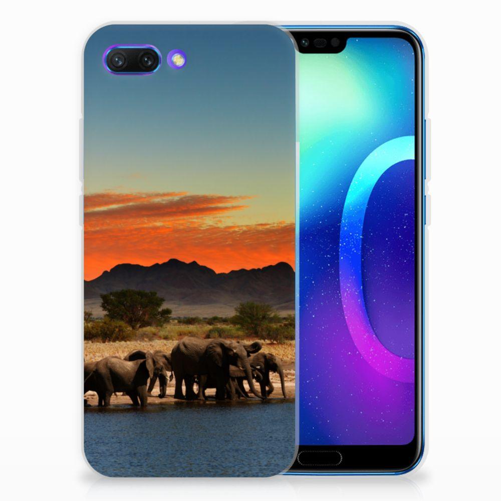 Huawei Honor 10 TPU Hoesje Design Olifanten
