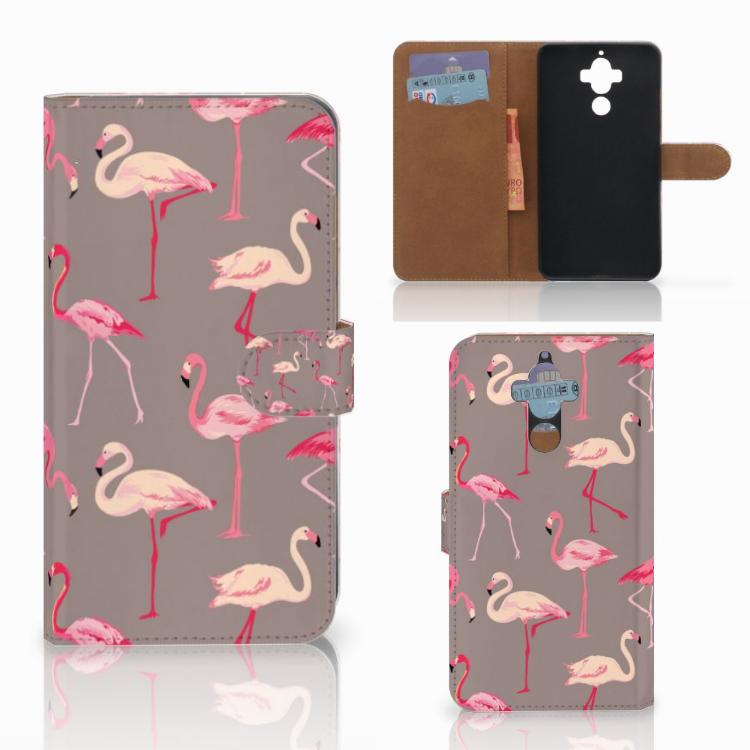 Huawei Mate 9 Telefoonhoesje met Pasjes Flamingo