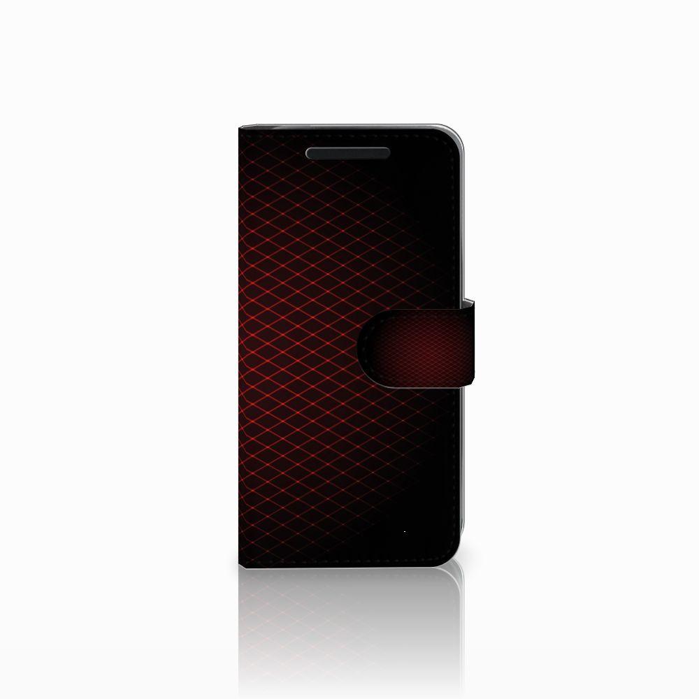 HTC One M9 Telefoon Hoesje Geruit Rood