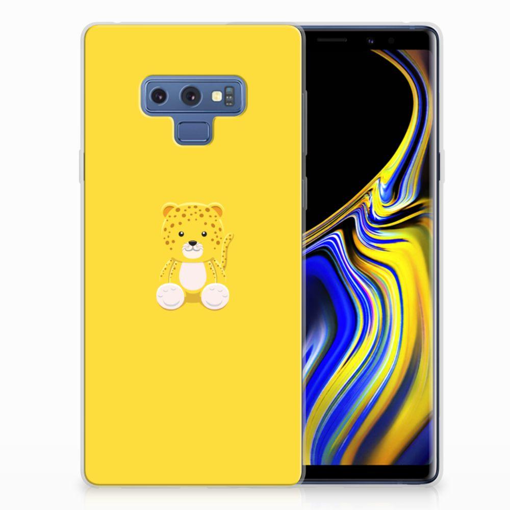 Samsung Galaxy Note 9 Telefoonhoesje met Naam Baby Leopard