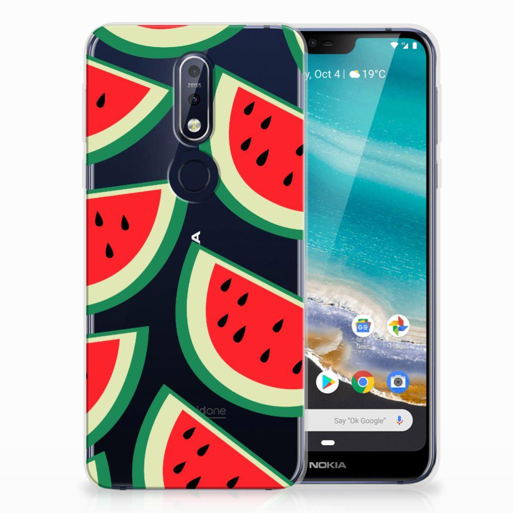 Nokia 7.1 Siliconen Case Watermelons