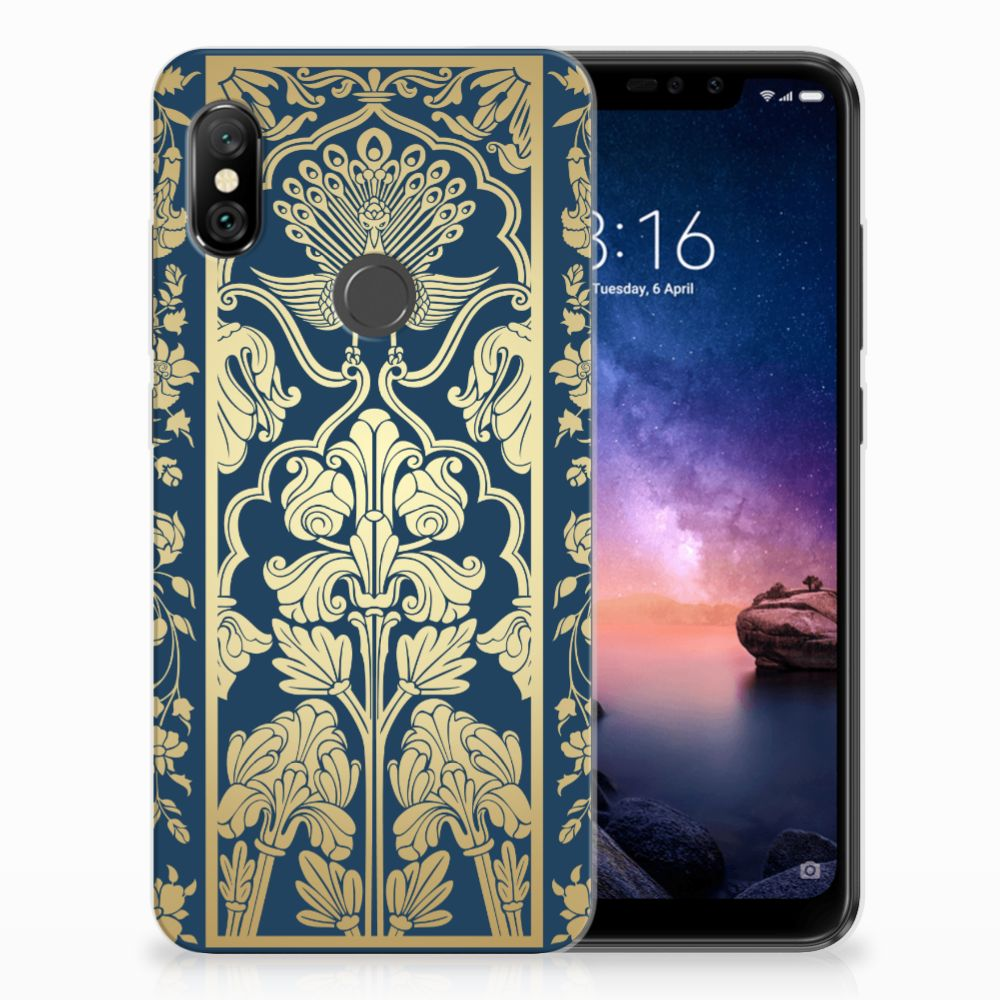 Xiaomi Redmi Note 6 Pro TPU Case Golden Flowers