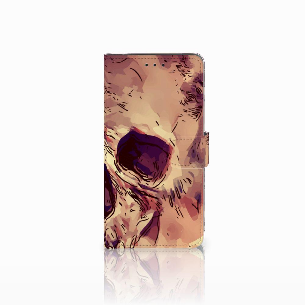 Telefoonhoesje met Naam Samsung Galaxy J6 Plus (2018) Skullhead