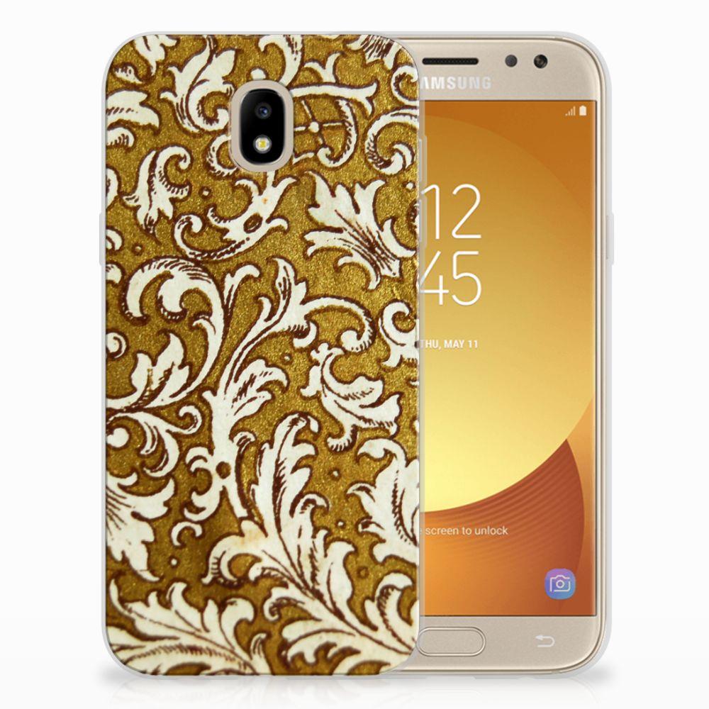 Siliconen Hoesje Samsung Galaxy J5 2017 Barok Goud