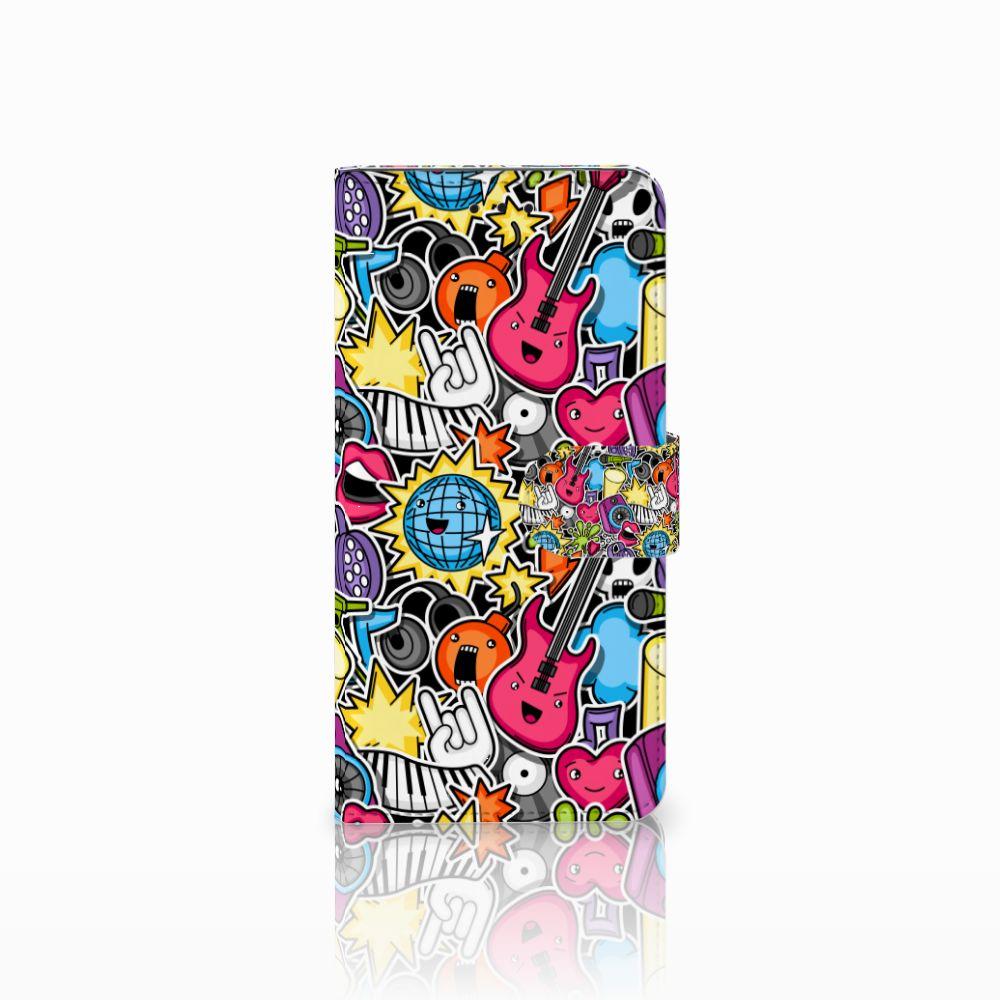 Motorola Moto E5 Uniek Boekhoesje Punk Rock