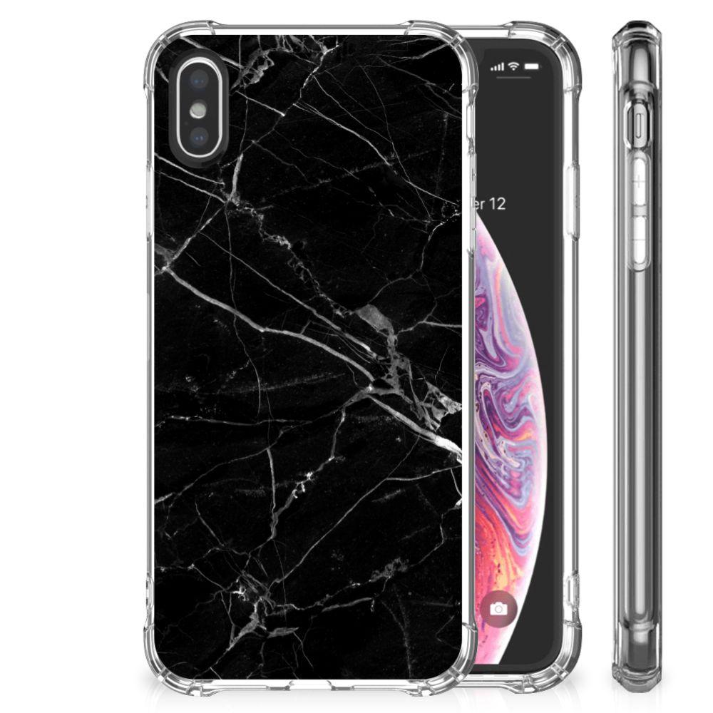 Apple iPhone X | Xs Anti-Shock Hoesje Marmer Zwart