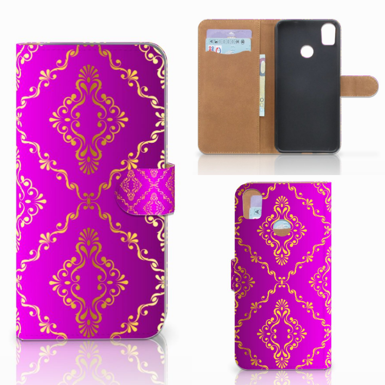 Wallet Case HTC Desire 10 Pro Barok Roze