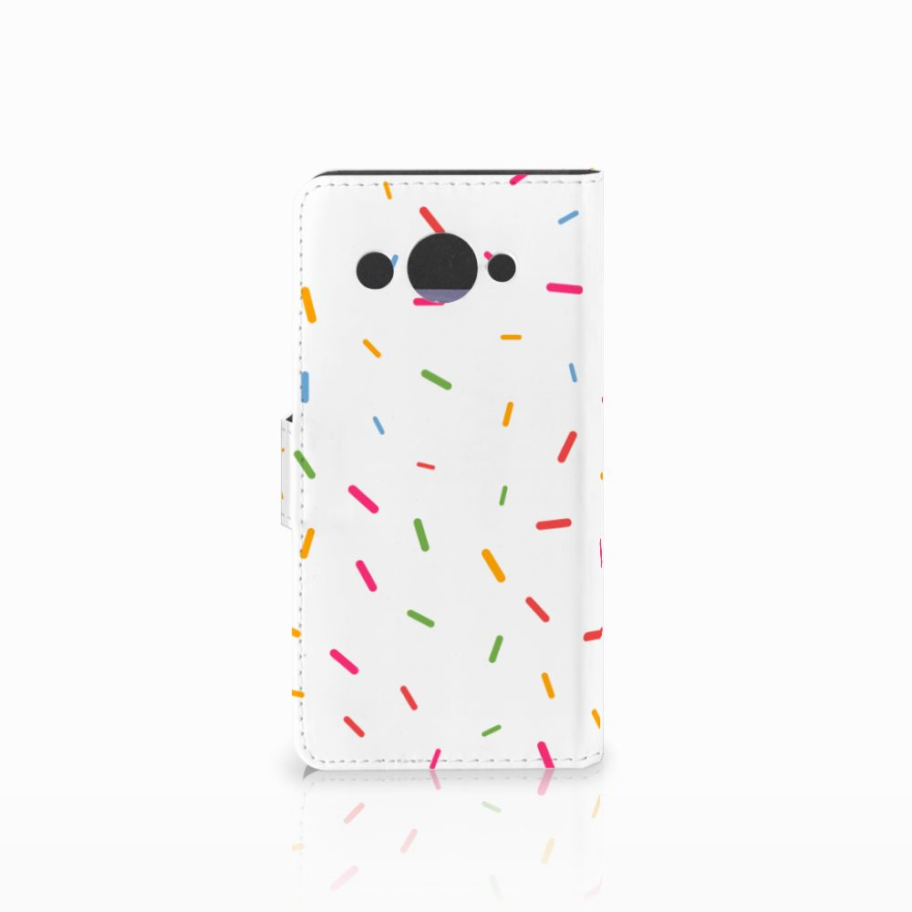 Huawei Y3 2017 Book Cover Donut Roze