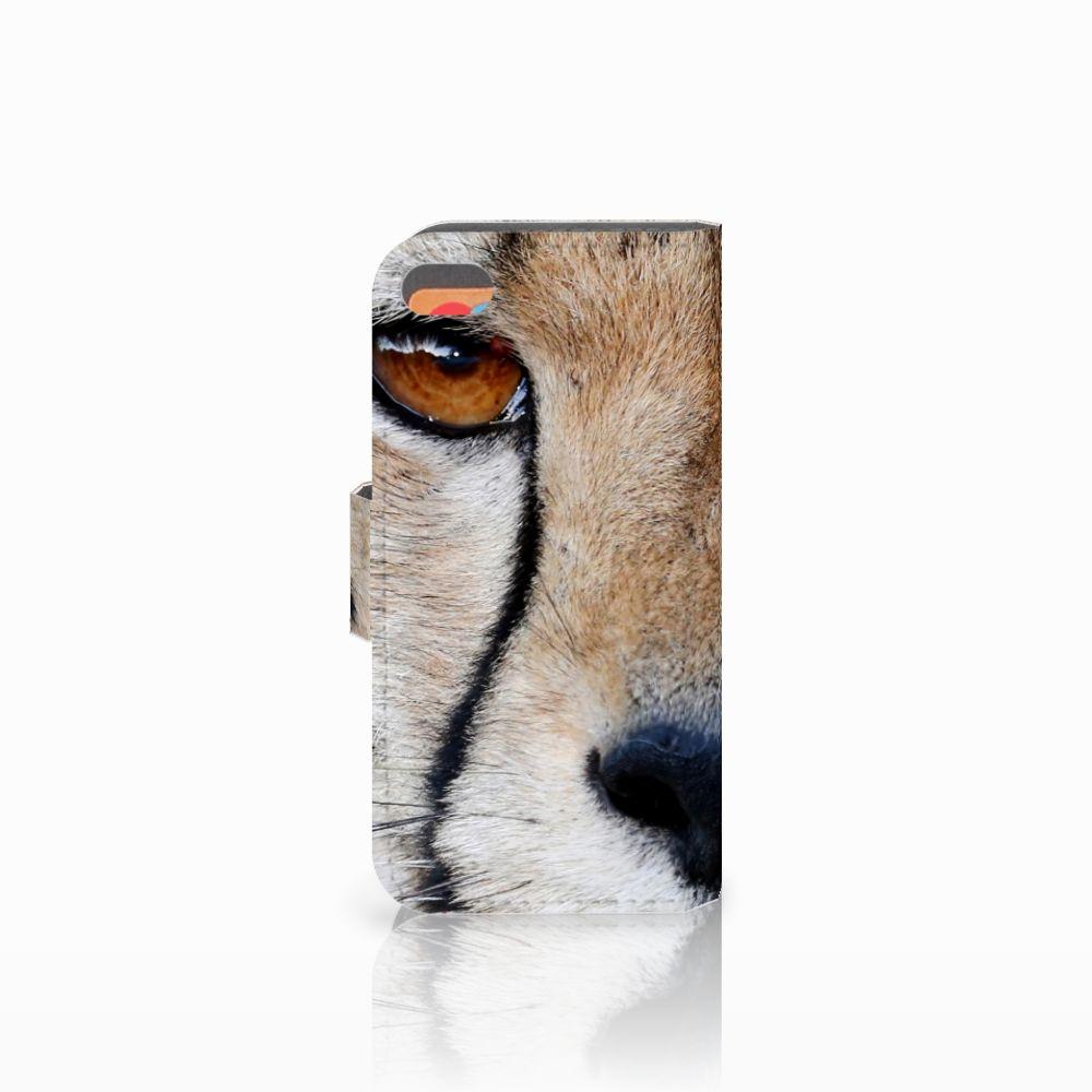 Apple iPhone 5C Telefoonhoesje met Pasjes Cheetah