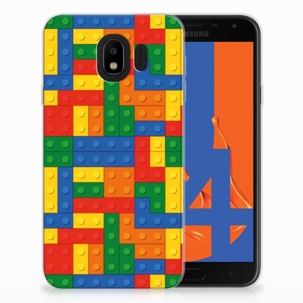 Samsung Galaxy J4 2018 Uniek Design TPU Hoesje Blokken