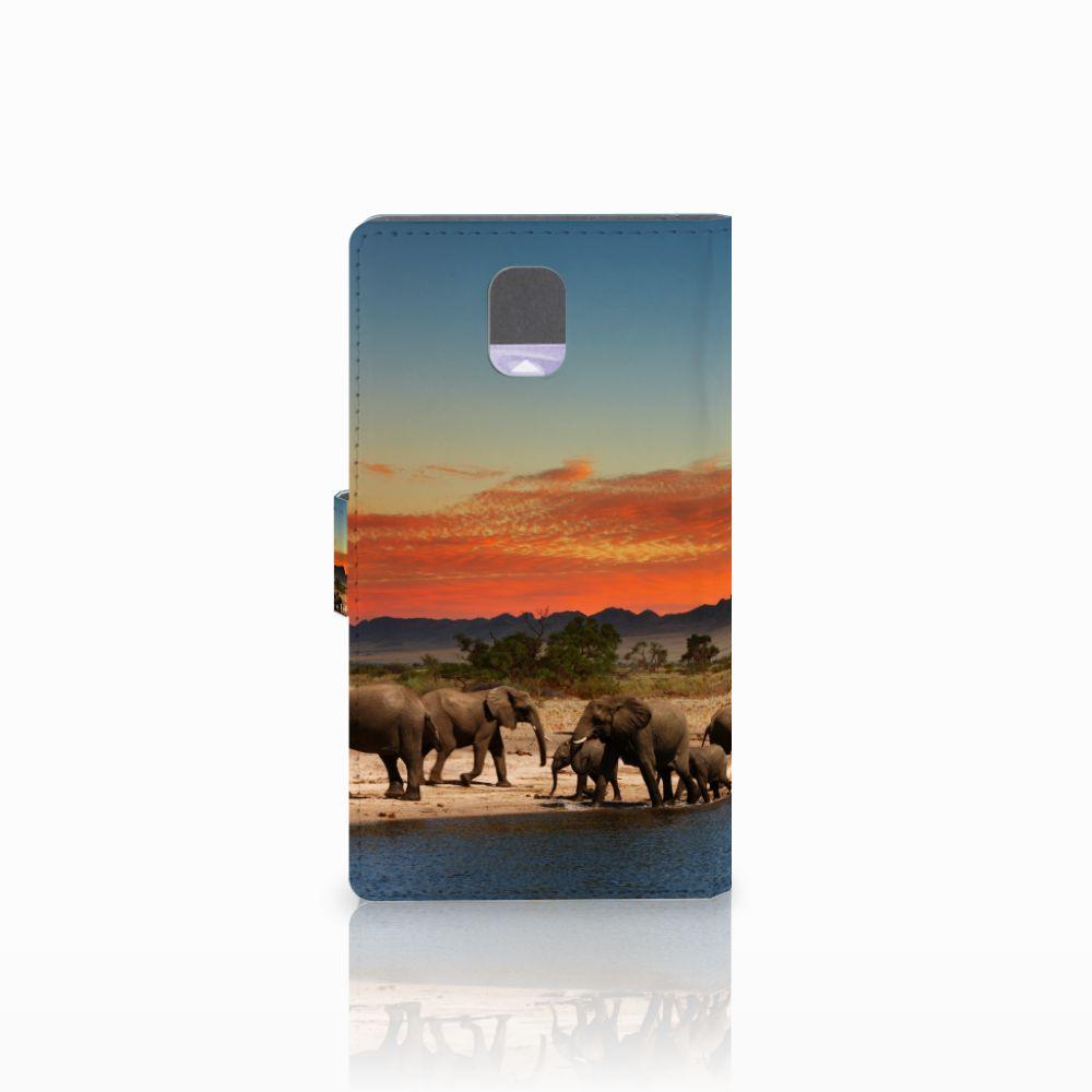 Samsung Galaxy Note 3 Telefoonhoesje met Pasjes Olifanten