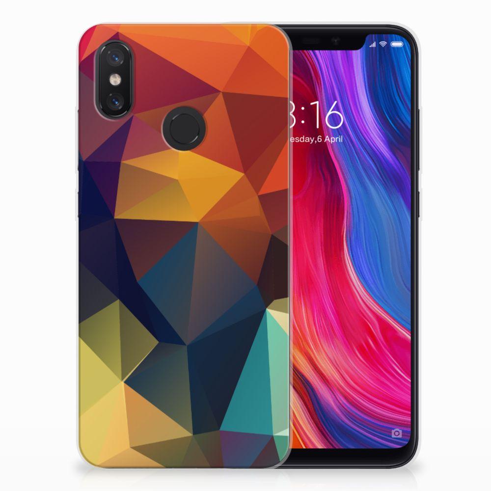 Xiaomi Mi 8 TPU Hoesje Polygon Color
