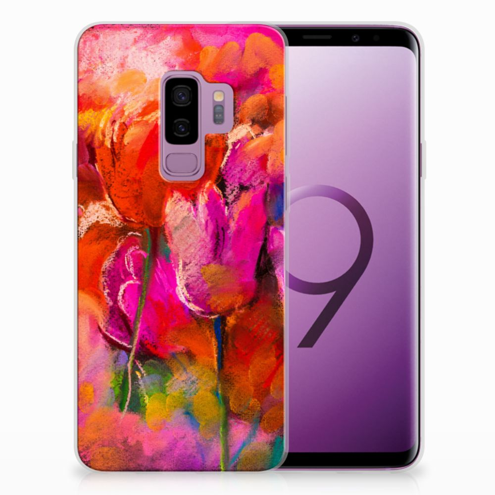 Samsung Galaxy S9 Plus TPU Hoesje Design Tulips
