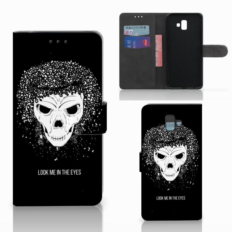 Telefoonhoesje met Naam Samsung Galaxy J6 Plus (2018) Skull Hair