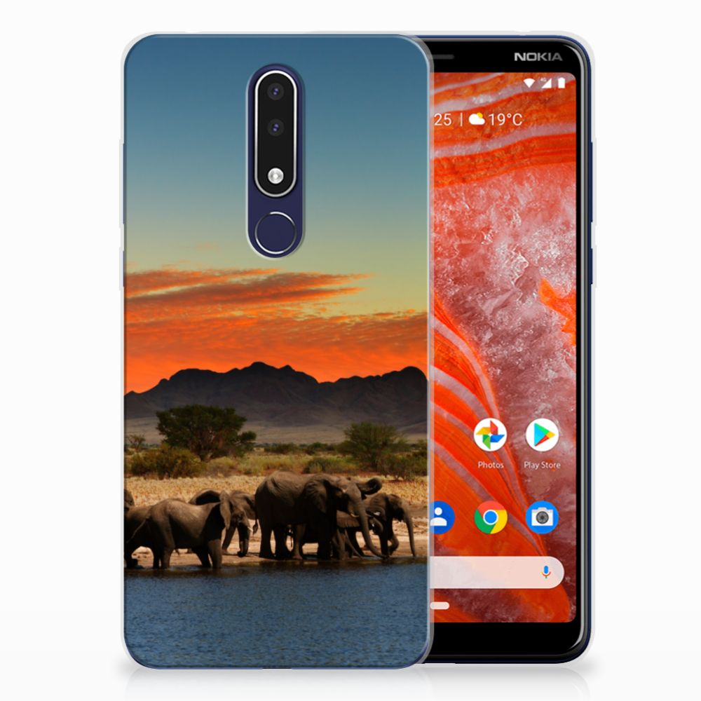 Nokia 3.1 Plus TPU Hoesje Design Olifanten