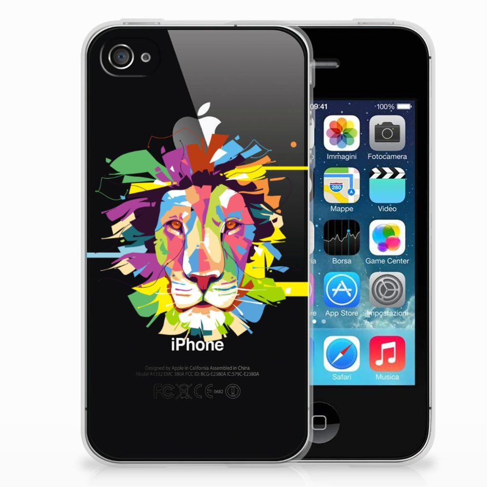 Apple iPhone 4   4s Telefoonhoesje met Naam Lion Color