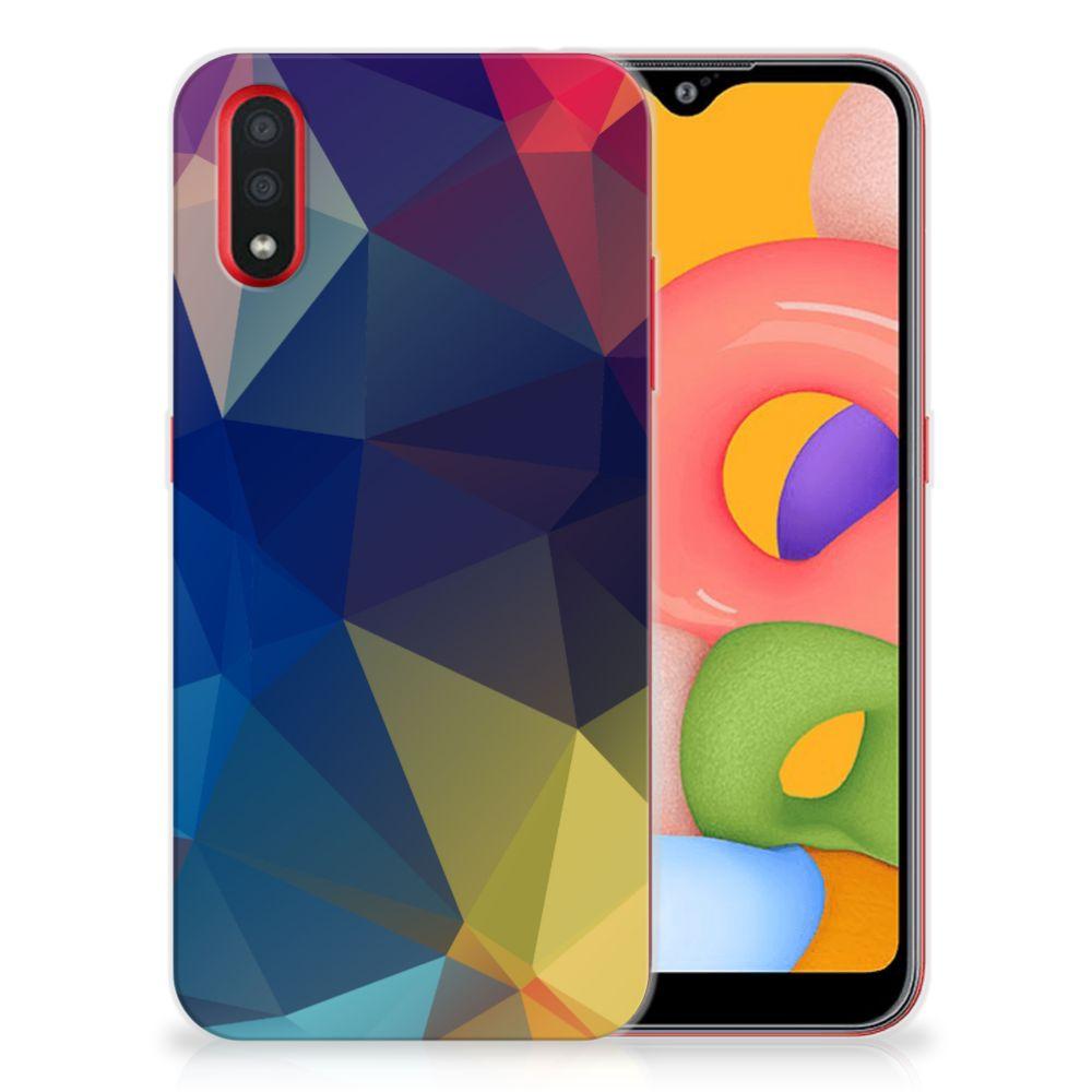 Samsung Galaxy A01 TPU Hoesje Polygon Dark