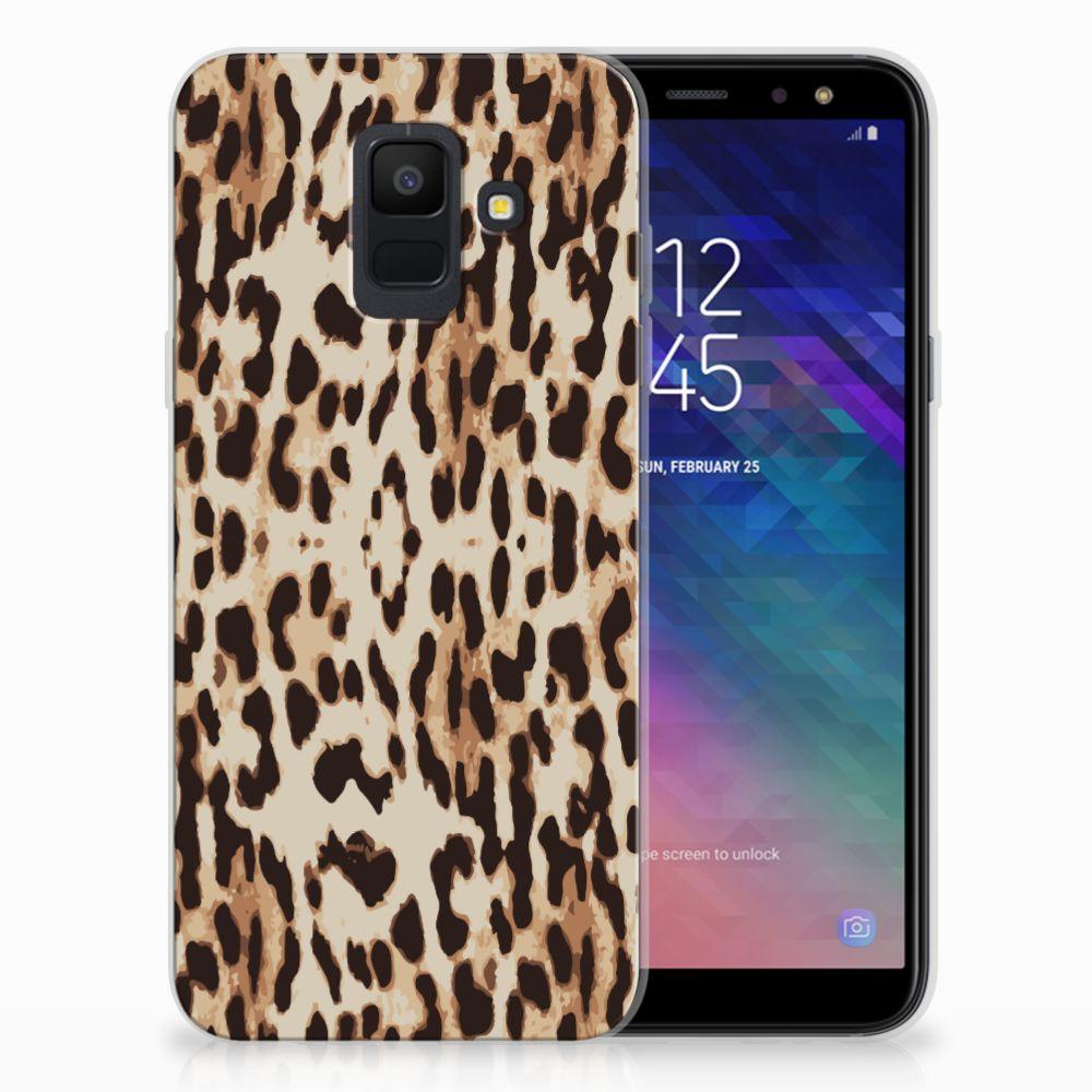 Samsung Galaxy A6 (2018) TPU Hoesje Leopard