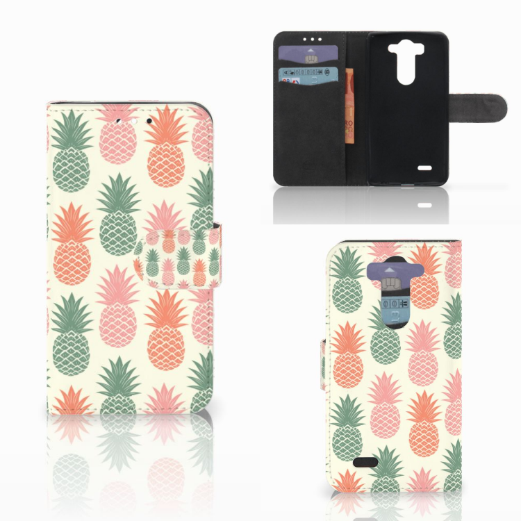 LG G3 S Book Cover Ananas